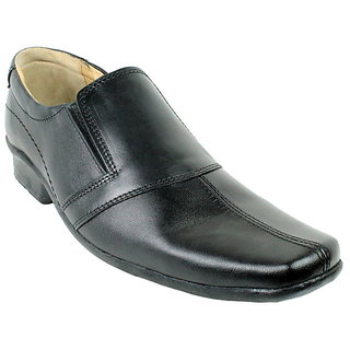 JerryMouse.in Mens Black Leather Formal Shoe - MFOR0054
