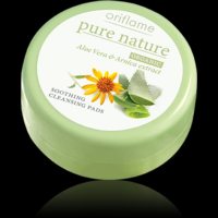 Oriflame Pure Nature ORGANIC Aloe Vera & Arnica Cleansing Pads - 25 Pads