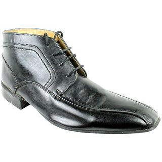 JerryMouse.in Mens Black Leather Formal Shoe - MFOR0055
