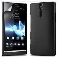 Moshi Hard Back Cover Case Pouch For Sony Xperia S LT26i -black