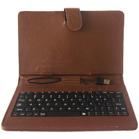 Callmate Keybord Leather Case/Cover For All 7 Inches Tablets With Free Screen Guard