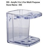 SSS Acrylic 3in1 Multi Purpose Toothbrush Holder  Material Acrylic Unbreakable