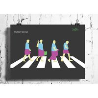 Cool Abstract Funny South Indian Abbey Road Wall Posters, Art Prints, Decals (8X12 Inches)