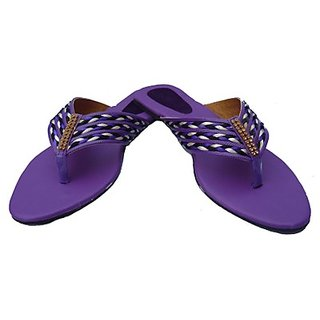Shoppingbaaz Stylish Purple Women's Slippers