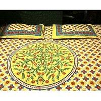 100% Cotton Bedsheet (Yellow Design)