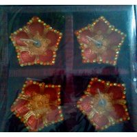Set Of 4 Golden Puja Decorative Diyas