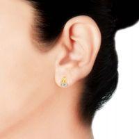 Asmi In The Mainstream Diamond 18Kt Gold Tops Earrings
