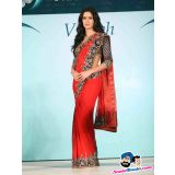 Katrina Kaif as an brand ambassador of Nakshatra in Red Georgette Saree