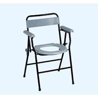 Commode Stool / Commode Chair With Back Support  Pot