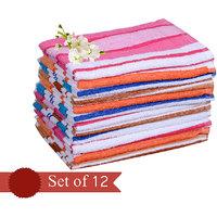 Exclusive Flower  Design Hand  Towel (set Of 12)