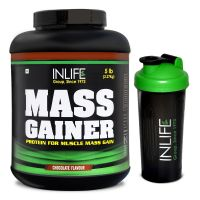 INLIFE Mass Gainer With Free Shaker - (5lb) Chocolate Flavour