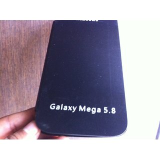 Samsung Galaxy Mega I9052 Flip Case Battery Back Cover Carry Case Black