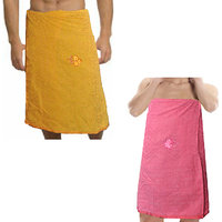 Premium Men & Women Cotton Bath Towel - Combo