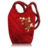 Red Silk Designer Mobile Bag