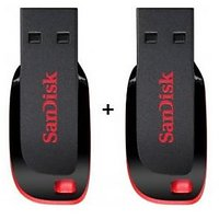 Combo Of Sandisk Cruzer Blade 8GB + 8GB Pendrive With 5 Years Warranty - 5380150