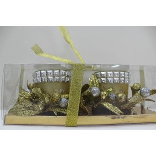 Bedazzle Decorative Gel Candle In Golden Colour