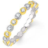 Jashn The Thumb Band In Sterling Silver With Swarovski Diamond   # JNRSC053