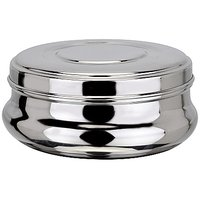 Stainless Steel Dabba And Casserole Set Of 2pcs(DIWALI DHAMAKA)