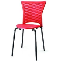 nilkamal dolphin kids rocking chair in red and blue colour best price