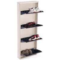 Nilkamal Estilo 4 Door Metal Shoe Rack Blue