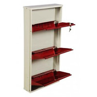 Nilkamal Estilo 3 Door Metal Shoe Rack Maroon