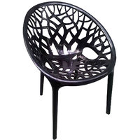 Nilkamal Vap Chair Crystal Pp Black (Polypropylene)