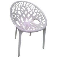 Nilkamal Vap Chair Crystal Pp Milk White (Polypropylene)