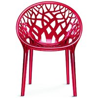 Nilkamal Vap Chair Crystal Pc Red Wine (Polycarbonate)