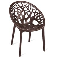 Nilkamal Vap Chair Crystal Pp Weather Brown (Polypropylene)