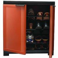 Nilkamal Freedom Mini Shoe Cabinet 09 Rust-Weather Brown