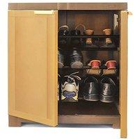 Nilkamal Freedom Mini Shoe Cabinet 09 Sandybrown-Dark Brown