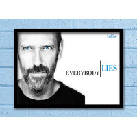 Stuffpanda Whacky Cool Abstract House MD Everybody Lies Glass Frame Posters Wall Art (8x12 Inches)