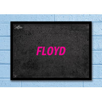 Stuffpanda Whacky Cool Abstract Music Psychedelic Single Floyd Glass Frame Posters Wall Art (8x12 Inches)