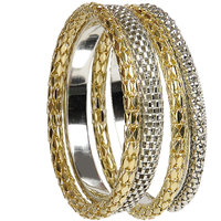 The Pari Trendy Gold And Silver Bracelets (bl-4)