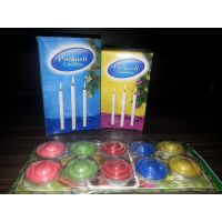 Pack Of 30 Candles And 10 Diyas Plus Free LED Light