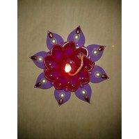 Designer Handmade Flower Diya Set Of 10