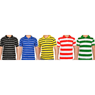 D&Y Set of 5 Striped T-Shirts