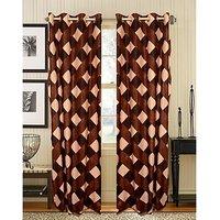 Premium Brown Box Curtain ( Set Of 2 ) - 9Ft