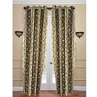 Premium Brown Bell Curtain ( Set Of 2 ) - 9Ft