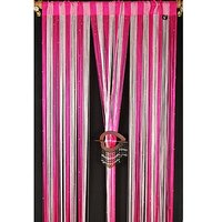 Pink Threads For Divider Curtain ( Set Of 2 ) - 7Ft