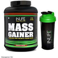 Inlife Mass Gainer 5lb Pack With Shaker Helps In Healthy Weight Gain