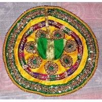 Designer Bal Gopal Poshak Yellow And Green DSCN0004 30cm