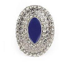 The Pari Stylish Blue And Silver Ring (TPRI12-308)