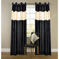Designercrush Door Curtain (4x7 Feet) Black C Lase