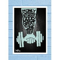 Stuffpanda Whacky Cool Abstract Motivation The Only Difference Glass Frame Posters Wall Art (8x12 Inches)