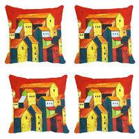 MeSleep Multi Houses Digitally Printed Cushion Covers