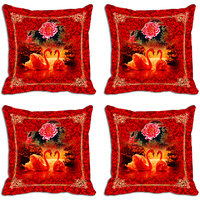 MeSleep Red Rose Digitally Printed Cushion Covers