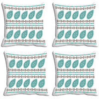 MeSleep Blue Abstract Digitally Printed Cushion Covers