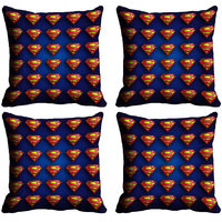 MeSleep Multi Logo Superman Digitally Printed Cushion Covers