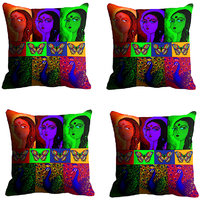 MeSleep Multi Girls Digitally Printed Cushion Covers